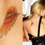 Tatuagem de asas nas costas – várias fotos