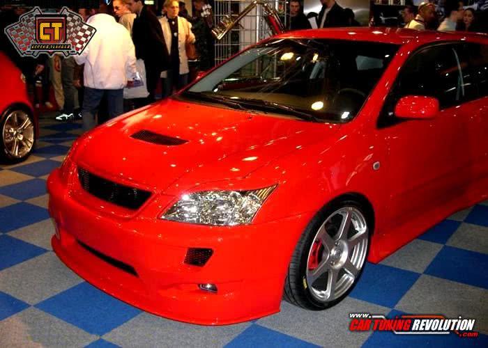 Corolla vermelho super modificado