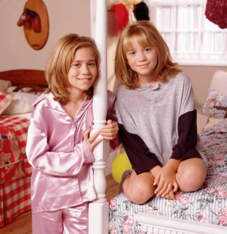 Mary-Kate e Ashley Olsen quando eram crianças