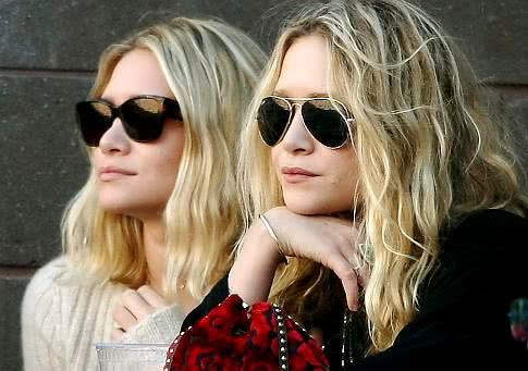Mary-Kate e Ashley Olsen em editorial
