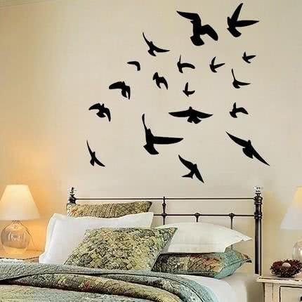 Adesivo com pássaros