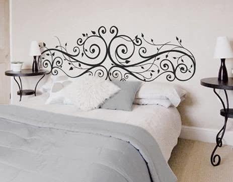 Adesivo sobre a cama