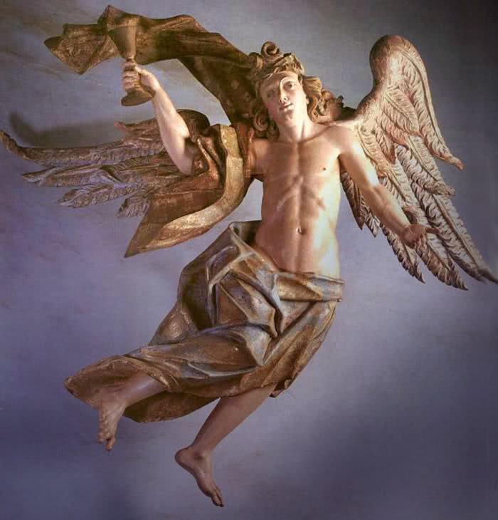 Anjo com o cálice da Paixão