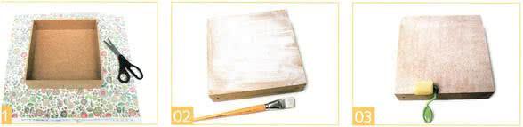 Revestimento de caixa com tecido