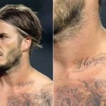 Tattoos no peito de David Beckham