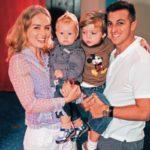 Luciano com seus filhos