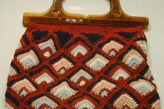 Gráfico de bolsa de crochê em imagem