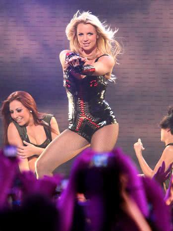 Britney em uma de suas turnês