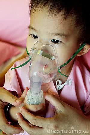 Criança com bronquiolite