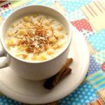Receita de como fazer canjica (doce, amendoim ou de coco)