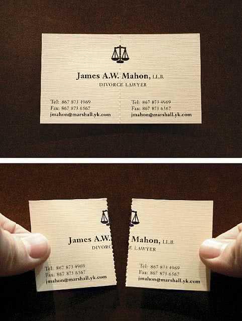 Cartão de visita criativo para advogados