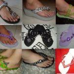 Chinelos bordados – Saiba como fazer modelos passo a passo