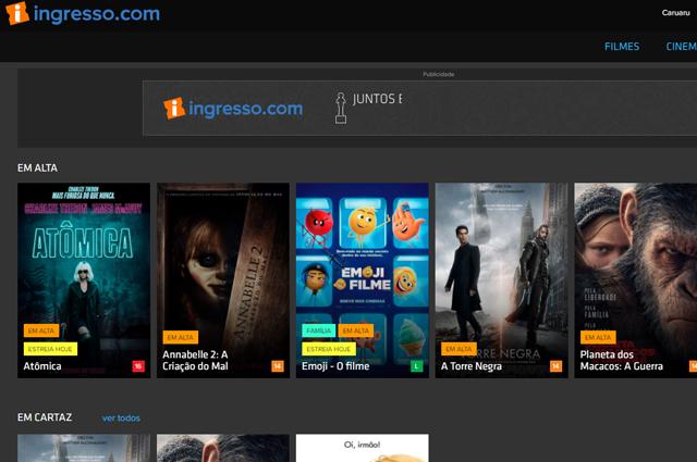 Como comprar na Ingresso.com