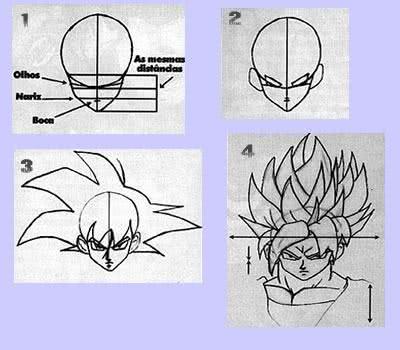Passo a passo de como desenhar Goku