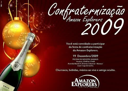 Convite de confraternização de fim de ano