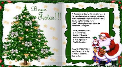 Convite de confraternização natalina com mensagem