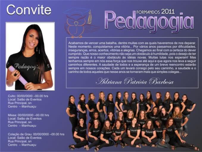 Convite de Pedagogia