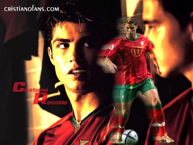 CR7 jogando na seleção de Portugal