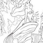 Desenho para colorir de A Pequena Sereia