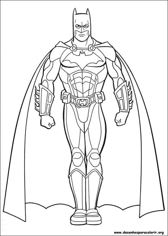 Desenhos Para Imprimir E Colorir Do Batman