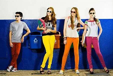 moda colorida