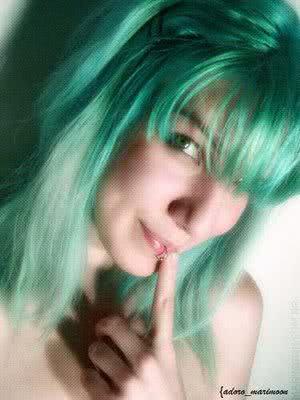 foto de cabelos verdes