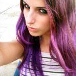 Fotos de cortes de cabelos pintados de roxo
