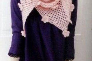 Fotos de modelos de cachecol em crochê e tricot