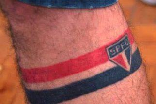 Fotos de modelos de tatuagens do São Paulo Futebol Clube
