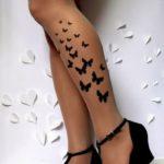 Fotos de tatuagens na perna – borboleta, tribal, flores..