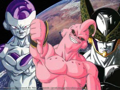 Freeza, Majin Boo e Cell, os maiores vilões da trama
