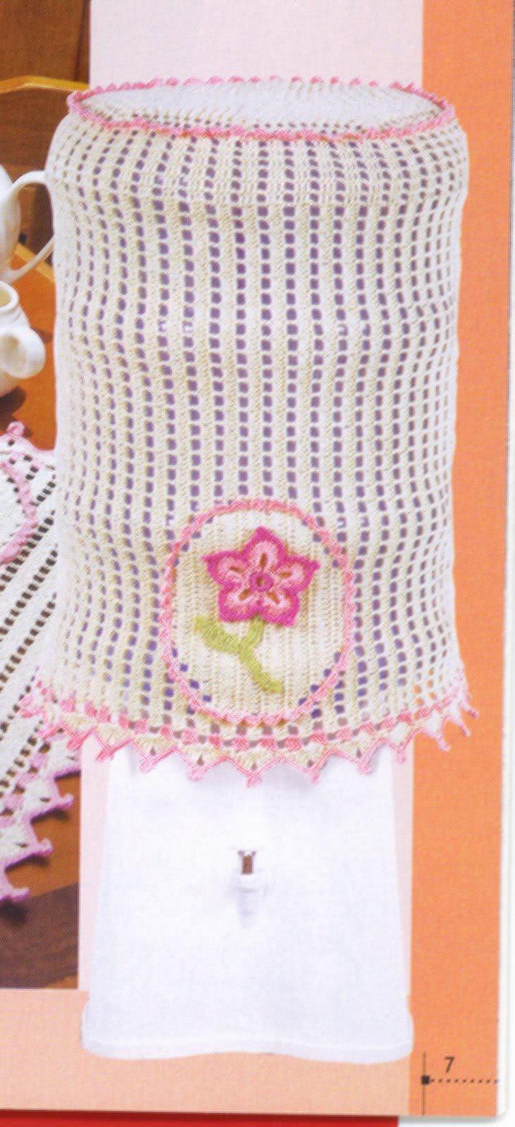 Capa para garrafão d'água em crochê