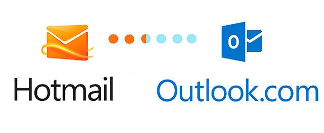 Ao criar um email na plataforma, é possível escolher a terminação @hotmail ou @outlook