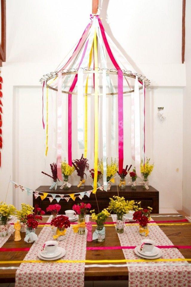 Decoração de festa junina -  Lustre