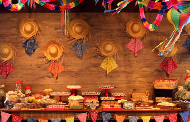Decoração de festa junina - Painel