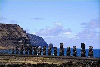 Esculturas de pedra na Ilha de Páscoa