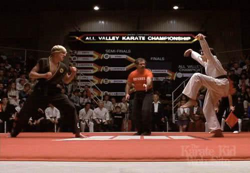 Cena do filme Karate Kid
