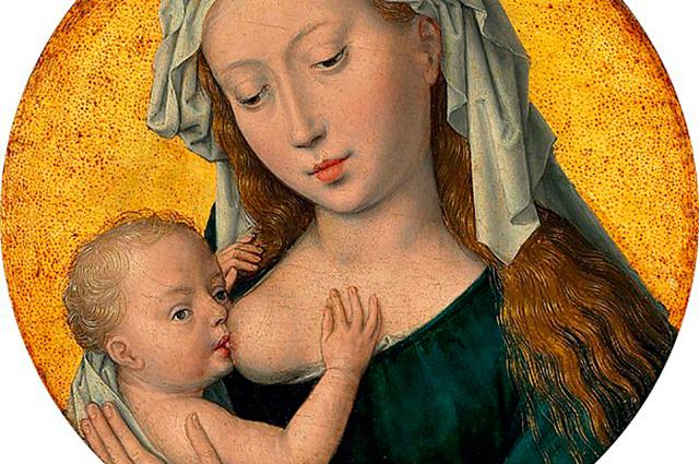 Foto de Nossa Senhora amamentando Jesus retrata o quão grandioso é o amor de mãe