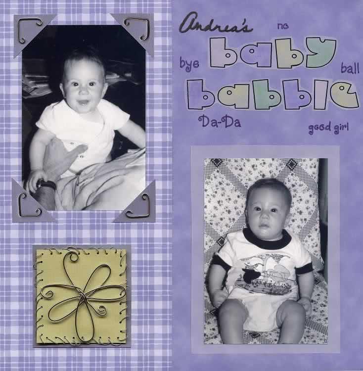 Modelo de scrapbook de álbum de bebê