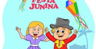 Modelos: Convites de aniversario infantil com tema de festa junina