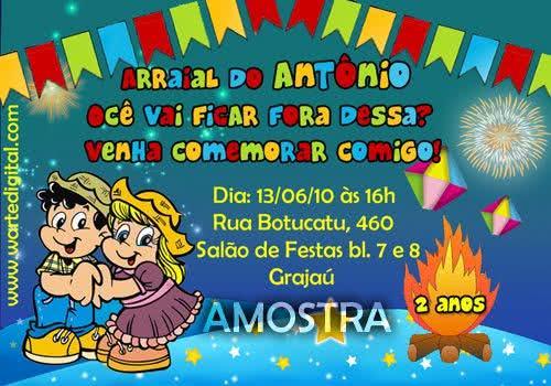 Modelos Prontos De Convite De Festa Junina