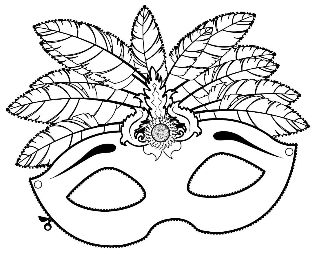 Imprima, pinte e decore esse luxuoso modelo de máscara de Carnaval