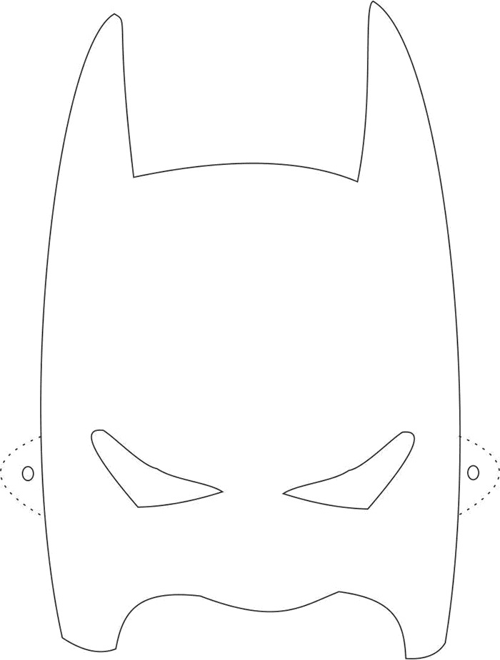 Máscara de super-herói para imprimir
