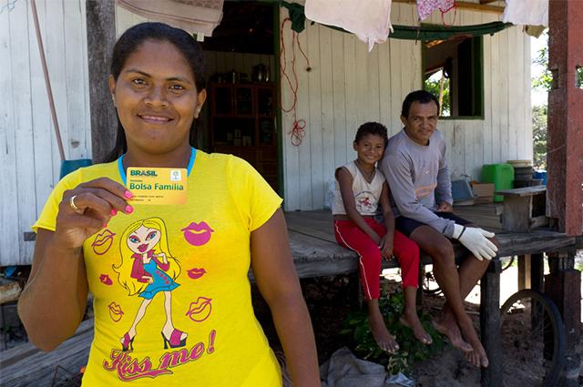 Bolsa Família possui faixas de renda para que as famílias possam participar do programa