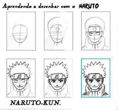 Passo a passo de como desenhar Naruto