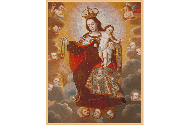 Com Jesus no colo e escapulário na mão, Nossa Senhora do Carmo apareceu em Cambridge