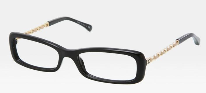 Óculos de Grau Chanel - com detalhes dourados
