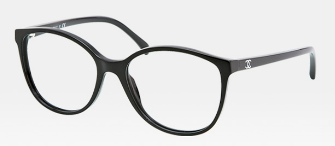 6ddb914412ccc Óculos de Grau Chanel - totalmente black