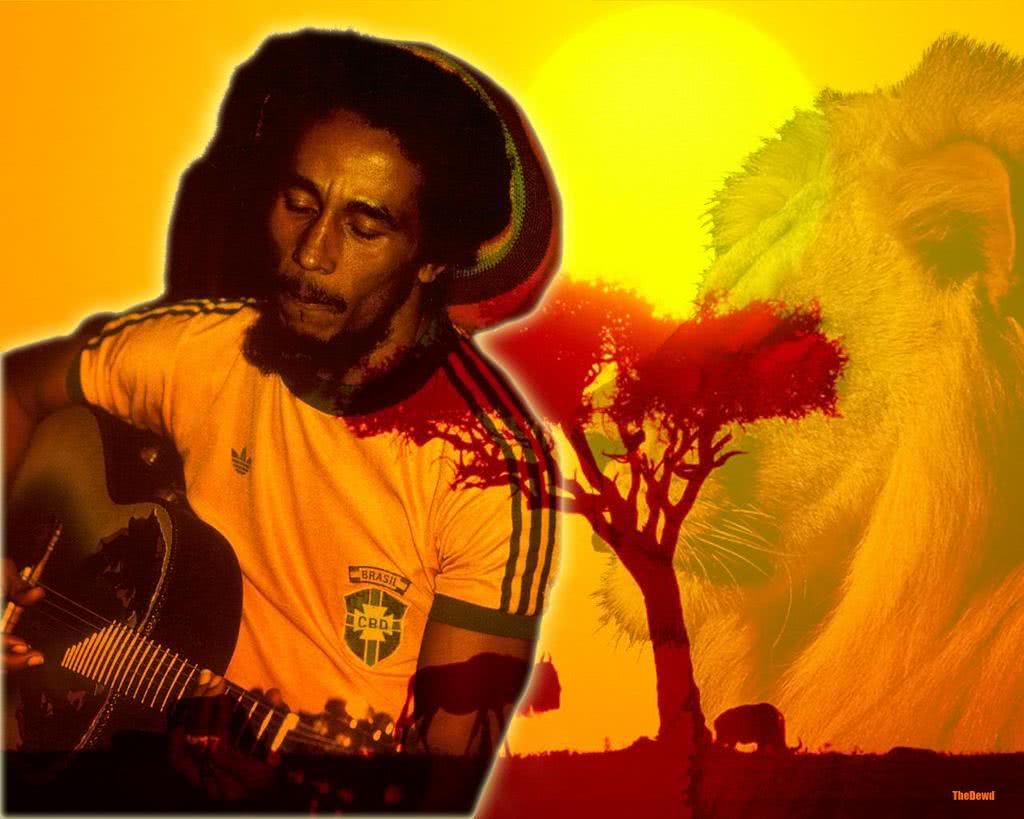 bob marley papel de parede - brasil