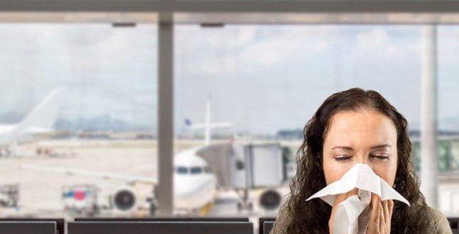 Posso viajar de avião estando resfriado, gripado ou com sinusite?